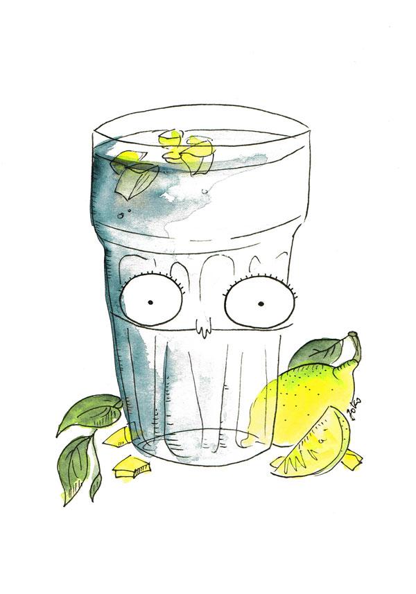 Zitronenwasser-schnell