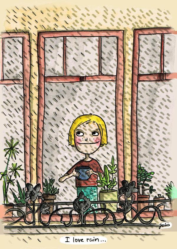 Regenbeobachterin-schnell